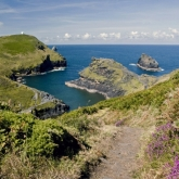 Boscastle Harbour Entrance from the Cliff Path, Boscastle, North